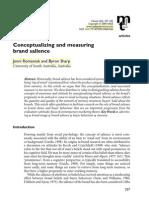 Brand Salience PDF