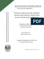 TIPOS DE HIBRIDACIÓN DEL CARBONO, GRUPOS FUNCIONALES Y REACCIONES DE ADICIÓN EN QUIMICA ORGÁNICA.pdf
