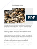 Snail farm business plan