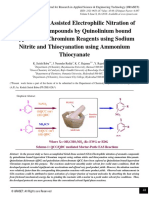 Mortar-Pestle Assisted Electrophilic Nitration of Aromatic Compounds by Quinolinium bound Hypervalent Chromium Reagents using Sodium Nitrite and Thiocyanation using Ammonium Thiocyanate