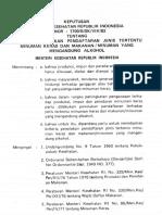 Kepmenkes No.1700 b Sk Viii 82 Tahun 1982 Kriteria Penolakan Pendaftaran Mengandung Alkohol