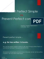 Grammar Present Perfect Simple vs Present Perfect Continuous Pre Intermediate