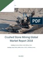 Crushed Stone Mining Global Market Report 2018