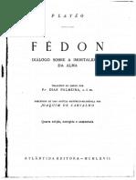 Fédon-Discurso Sobre a Imortalidade da Alma Platão.pdf