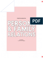 Persons and Family Relations - Fourth Examination