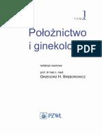 Bręborowicz - Położnictwo i Ginekologia (Tom I)