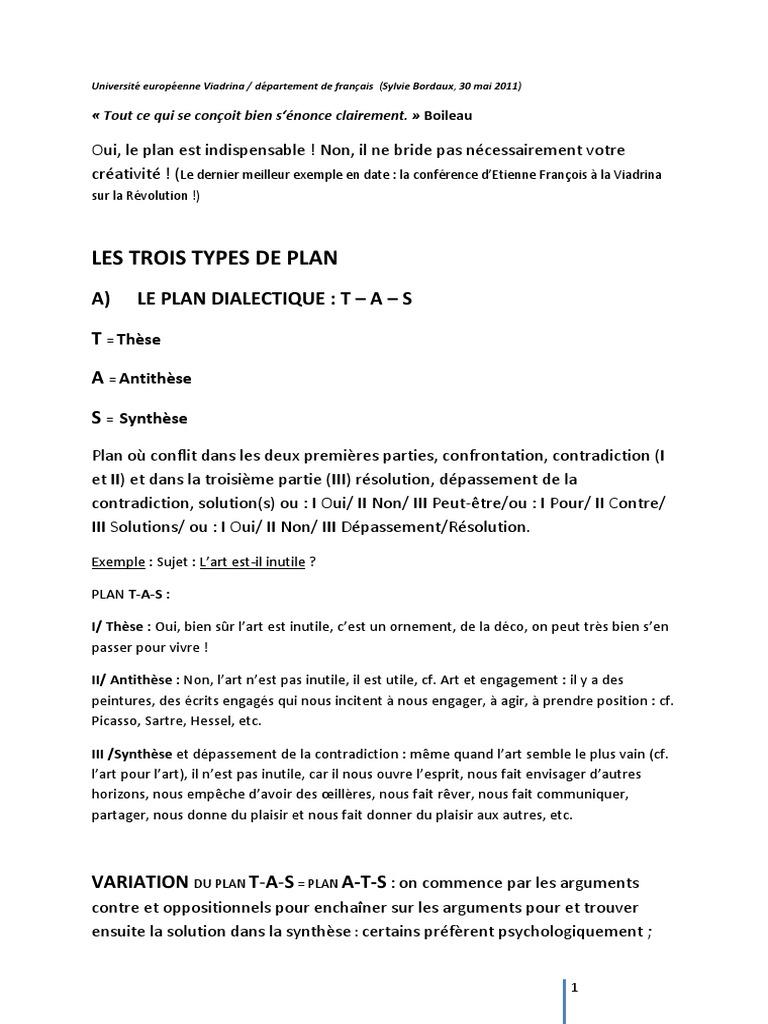 These Antithese Exemple - Titre De La Thèse