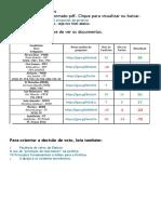 Comparativo dos Candidatos a Presidência 2018 e a DSI