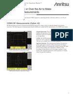 Base Station Measurement With Evdo