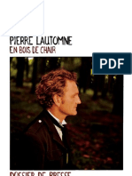 Dossier de presse Pierre Lautomne