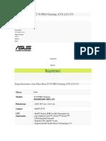 Asus Placa Base Z170 PRO Gaming ATX LG1151