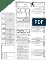 Classe Character Sheet Monk V1
