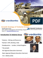 Growth Stategy of Vedanta Resources
