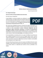 Carta Auditorio Fiis