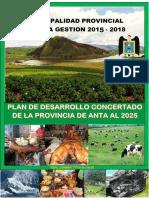 Propuesta de Plan de Desarrollo Concertado Anta Al 2025.