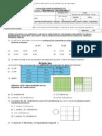 Prueba Matematica Octubre 4° Números decimales