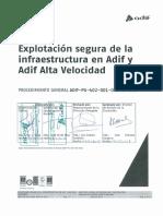 Explotación Segura de La Infraestructura en Líneas de Alta Velocidad. ADIF-PG-402-001-003-SC-011. 12-2017. Rev. 1 Si