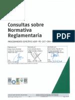 Consultas Sobre Normativa Reglamentaria. ADIF-PE-107-004-001-SA-I32. 13-03-2018. Rev. 2 Si