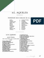 El Aquiles de Tirso de Molina
