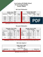 Week 3 MAAP Testing Schedule