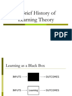 Copy of a Brief History of Learning Theory