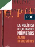 Desrosières - La Política de Los Grandes Números