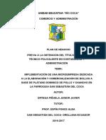 Junior Ortega Emprendimiento Tercero A