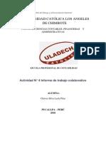 Actividad N° 4 Informe de trabajo colaborativo lesly chavez