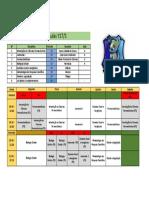 Horário de Aulas 1º Período Y17-1