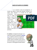 Personajes de Plantas vs Zombies