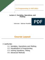 Lecture 1, Bahman Moraffah