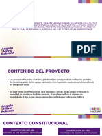Presentación proyecto unificación de elecciones.
