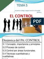 Tema 5, El Control