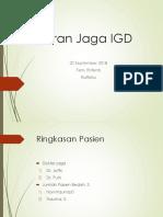Laporan Jaga IGD 20 Sept 2018