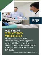 09-10-18 Abren centro médico