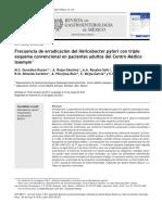 Frecuencia de Erradicaci n Del Helicobacter Pylori Con 2012 Revista de Gast