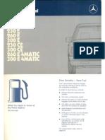Copy of Mercedes-benz w124 (200, 200e, 230e, 260e, 300e, 230ce, 300ce, tic tic Owner's Manual