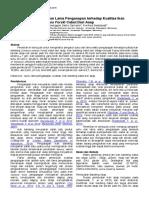 Efek Perbedaan Suhu Dan Lama Pengasapan Terhadap Kualitas Ikan Bandeng (Chanos Chanos Forsk) Cabut Duri Asap