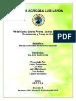 Informe Luis Landa Ph Del Suelo Suelos Acidos Suelos Alcalinos Ecosistemas y Zonas de Vida