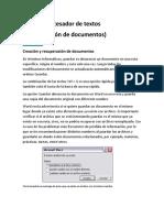 Uso Del Procesador de Textos Tics Resumen