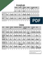 Tabela Arrumação e Compras