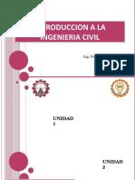 CLASE 1 Y 2 Introduccion a La Ingenieria Civil