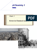 Errors in Chemical Analysis