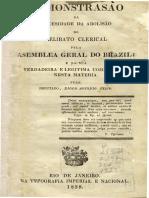 06 Diogo Feijó - Demonstração Da Necessidade de Abolição Do Celibato - Proposição 1
