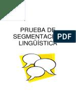Prueba de Segmentación Lingüística (PSL) Forma A