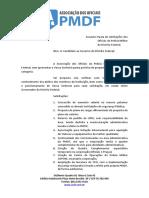 Carta Associação dos Oficiais da PMDF