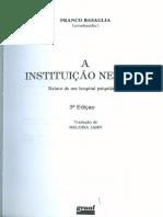 BASAGLIA, Franco. as Instituições Da Violência.(2x)