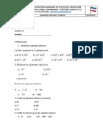 Parcial de Matematicas i.e. Mariano e