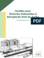 Cartilha Artroplastia total joelho