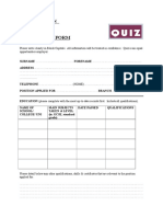 QUIZ APPLICATION FORM.doc
